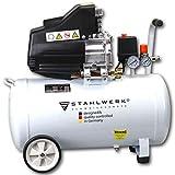 STAHLWERK Druckluft Kompressor ST 558-55L Kessel, 8 Bar, ölgeschmiert, 230L/Min, 2,5 PS, kompakt & leise, weiß, 5 Jahre Herstellergarantie