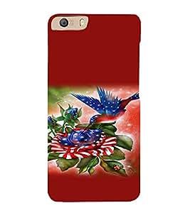 Print Masti Designer Back Case Cover for Micromax Canvas Knight 2 E471 (Bird Colourful Bud Leafe Dies )