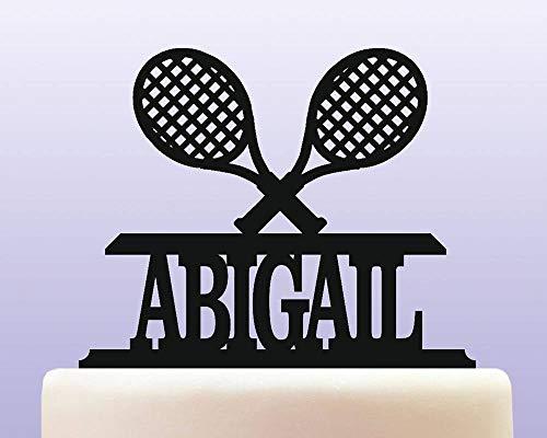 Personalisierte Acryl Tennis Spieler Schläger Geburtstag Andenken Cake Topper Dekoration