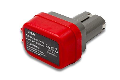 Preisvergleich Produktbild vhbw NiMH Akku 3000mAh (9.6V) für Elektrowerkzeug Werkzeug Powertools Tools Makita 1022DW, 6014DW, 6200D, 6200DW, 6201D, 6201DW, 6201DWH