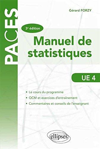 Manuel de statistiques UE 4 par Gerard Forzy