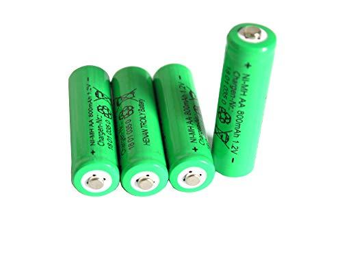 Solar-Akku leistungsstarke wiederaufladbare Batterien NiMH AA- 800mAh (Akku AA 1Set - 4 Stück) Aa Solar Akku