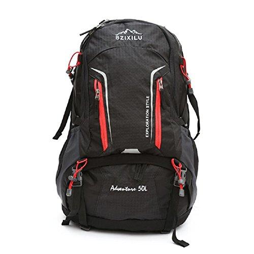 LJ&L Outdoor Nylon Klettern Rucksack, wasserdichte solide Verschleiß-resistent reißfeste hochwertige Reise-Tasche, Männer und Frauen universal, Mode Casual Schultertasche A