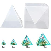 Super Pirámide Silicona Molde para Resina Molde de Joyería DIY + Marco Plástico