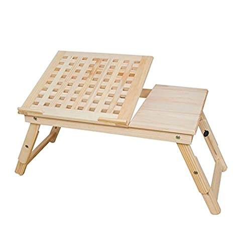 XUERUI Peut être levé Bac d'ordinateur Bureau de bureau pliable Lit Use Pine 52cm * 32cm * 21cm Couleur du bois