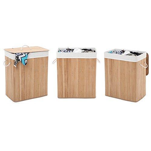 Wäschekorb aus Bambus, 100 Liter - 9