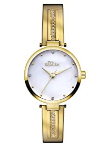 s.Oliver Damen-Armbanduhr XS Analog Quarz Edelstahl SO-2766-MQ