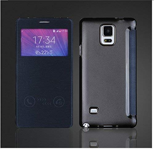 Jellybean Gorilla PU Leder Schutzhülle für Samsung Galaxy Note 4-Schwarz (Samsung Note 4 Flip Case S-view)