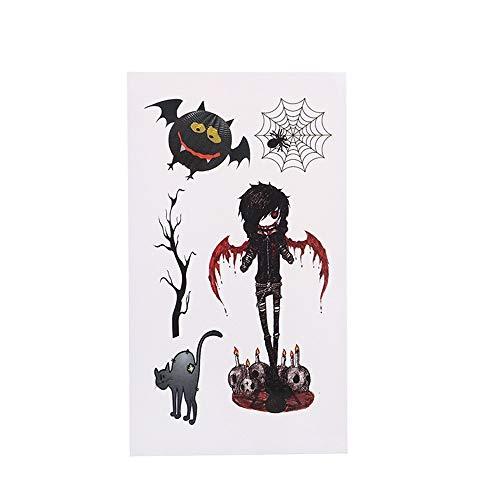 YANGQIN Tattoo Aufkleber Gefälschte Tätowierungsaufkleberzusätze des Schlägerhorrors Der Schwarzen Katze Der Narbenspinne
