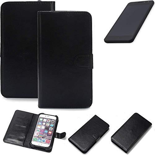 K-S-Trade® 360° Wallet Case Handyhülle Für Shift Shift5.3 Schutz Hülle Smartphone Flip Cover Flipstyle Tasche Schutzhülle Flipcover Slim Bumper Schwarz, 1x