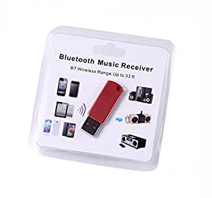 VeeDee USB Bluetooth01 USB Bluetooth Stereo Audio Music Receiver For Speaker No Aux Required