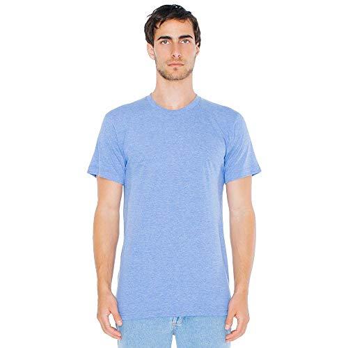 American Apparel - Unisex Tri-Blend Shortsleeve Track T / athletic blue, M - Athletic Track-t-shirt