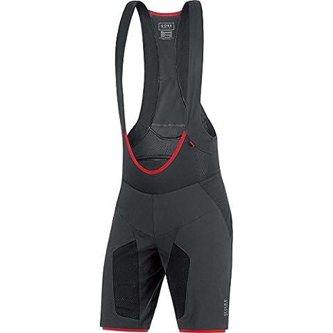 GORE BIKE WEAR Herren 2 in 1 Mountainbike-Shorts und Tights mit Trägern, Sitzpolster, GORE Selected Fabrics, ALP-X PRO 2in1 Shorts+, Größe: L, Schwarz, TPALPS