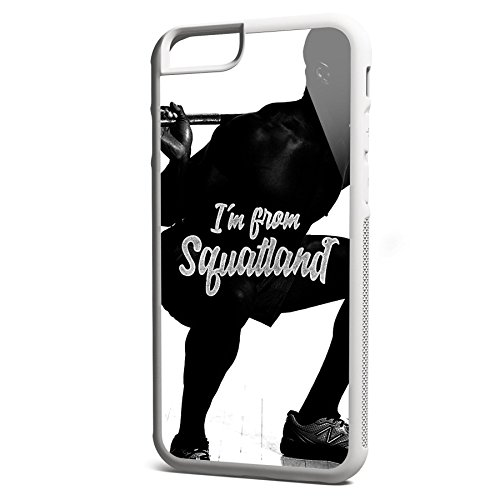 Smartcover Case I m from SQUATLAND z.B. für Iphone 5 / 5S, Iphone 6 / 6S, Samsung S6 und S6 EDGE mit griffigem Gummirand und coolem Print, Smartphone Hülle:Samsung S6 EDGE weiss Iphone 6 / 6S weiss