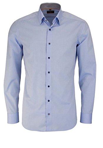 Eterna Long Sleeve Shirt Slim Fit Stretch Uni azzurro chiaro