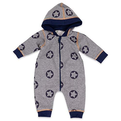 Baby Sweets Baby Sweets Babystrampler Jungen mit Stern Motiv/Overall mit Kapuze für Neugeborene & Kleinkinder | Größe: 1 Monate (56)