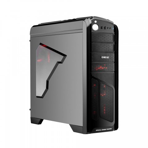 Circle CC 839 Professional Gaming Cabinet (without SMPS) Black