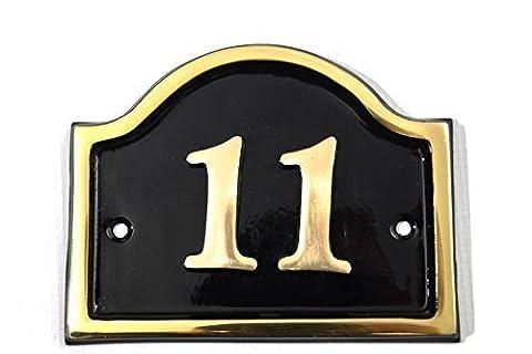 Brass Bridge House Number (Number 11)