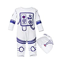 Aramomo Baby Astronaut Spaceman Costume Cap Set Outfit Infant Dress Up Romper for Baby Toddler 0-24 Months