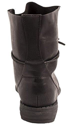 Elara Damen Stiefelette | Biker Boots | Trendy Lederoptik nero 2