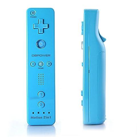 Wii Remote + Nunchuk Controller mit Motion Plus für Nintendo Wii / Wii U, Blau