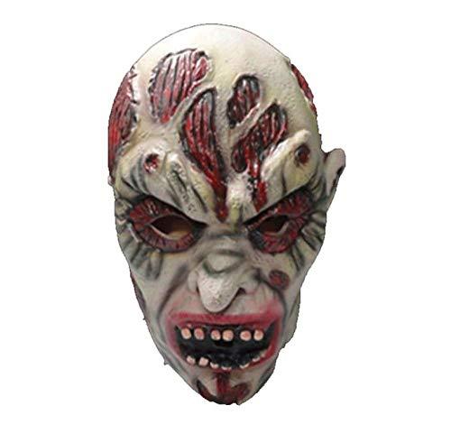 Blutigen Kostüm Einhorn - DWcamellia Masken für Erwachsene realistische Horror Halloween Gruselmaske Halloween Horror blutige Gesichtsmaske Kostüm