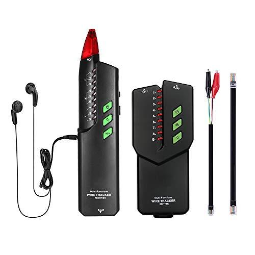 NOBGP Telefonkabelverfolger, Handheld RJ11 RJ45 Elektrisches Leitungssuchkabel Tester Leitungssuchgerät für Netzwerk-LAN-Ethernet-Kabelsortierung