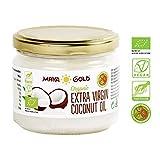 Natives Kokosöl aus biologischen Anbau | Kaltgepresst, roh und 100% natürlich | Als Nahrungsmittel und zur Pflege von Haar und Körper geeignet | 280 ml MAYA GOLD®