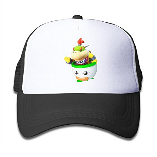 Hittings Youth Bowser Jr Cute Adjustable Baseball Trucker Caps For Girls One Size Black