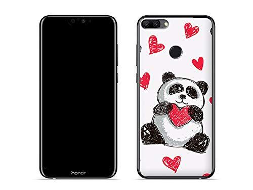 etuo Huawei Honor 9i - Hülle Fantastic Case - Panda mit Herz - Handyhülle Schutzhülle Etui Case Cover Tasche für Handy