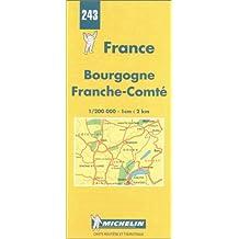 Carte routière : Bourgogne - Franche-Comté, N° 243