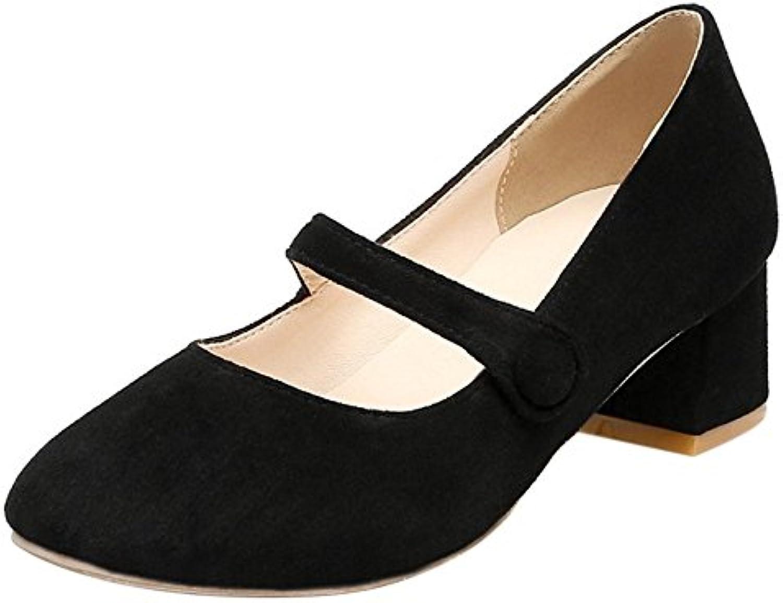 77f86126247 COOLCEPT Women COOLCEPT Fashion Block Middle Block Heel Mary Closed Jane  Closed Toe Court Shoes B073LWFJTP Parent 6da4172