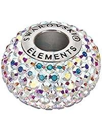 Swarovski® abalorio Becharmed cristal acero inoxidable 14x4,5mm 80101 Crystal AB