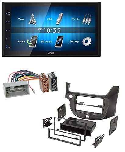 5BT USB 2DIN Bluetooth MP3 AUX Autoradio für Honda Jazz ab 09 dunkelgrau ()