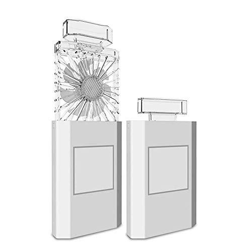 rer Mini-Lüfter, Wiederaufladbarer USB-Lüfter Für Studentenwohnheime GAOFENG (Color : White, Size : 7.8 * 2.8 * 5.7CM) ()