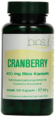 Bios Cranberry 400 mg, 100 Kapseln, 1er Pack (1 x 49 g)