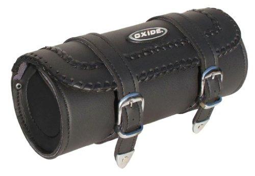 Oxide Werkzeugrolle Lace II Einfaches Design Leder Motorradkoffer Satteltasche Radtaschen Touren Taschen Motorrad Gepäckrolltaschen Fahrradträger mit Befestigungsriemen
