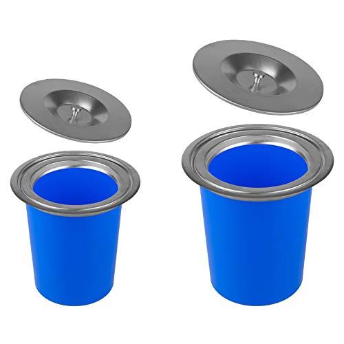 Edelstahl Einbau Abfalleimer in 2 Größen in 5L & 7L auswählbar (7 Liter)