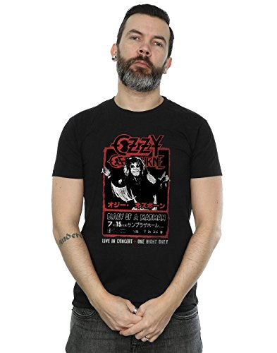 Ozzy Osbourne Hombre Japan Flyer Camiseta Small Negro