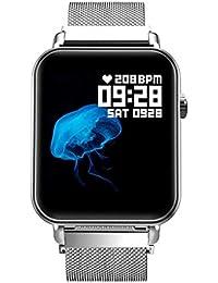 POJIETT Reloj Inteligente Hombre Mujer Impermeable IP67 Monitor de Actividad Cuadrado Reloj Fitness Pulsera Actividad Pulsómetro