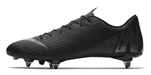 Nike Unisex-Erwachsene Vapor 12 Academy Sg Fitnessschuhe, Schwarz (Black/Black 001), 42 EU (Stollen Vapor Mercurial Nike)