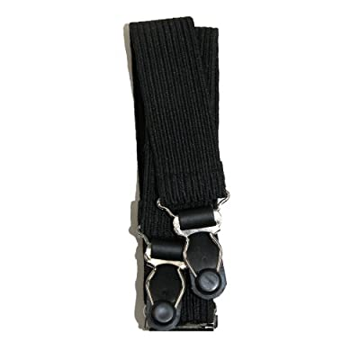 CTM Unisex Shirt Stays and Sock Garters, Black