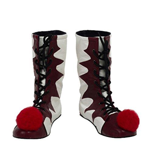 Herren Stiefel Kostüm Weiß - BIRDEU Herren Schuhe Pennywise Rot & Weiß Stiefel Clown Cosplay Kostüm Zubehör für Erwachsene Verrücktes Kleid Kleidung Merchandise