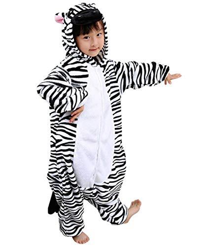 Kigurumi unisex bambini pigiama animale anime cosplay carnevale halloween costume zebra