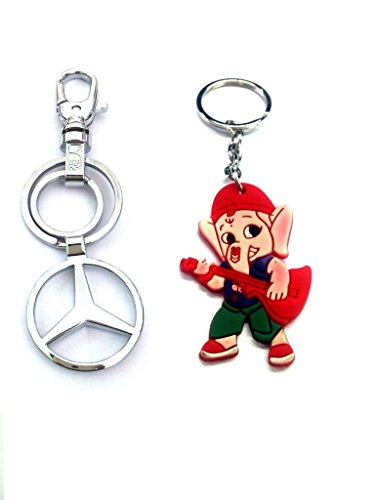 Parrk Styles Mercedes benz Metal Locking With Bal Ganesh Key Chain  available at amazon for Rs.159