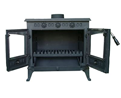 Purchase the FoxHunter Cast Iron Log Burner 12KW Multifuel from Log Burning Essentials