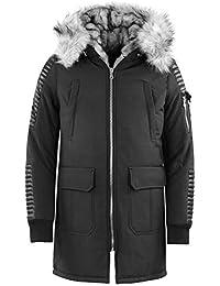 Homme Hiver Manteau Long Trench-Coat Chaud Veste Slim Fit Casual en Laine  Caban Mode Élégant · EUR 86,40 Écran. H echbone - Beslx Noir BLC Parka -  Parkas ... d85c0a38fb85