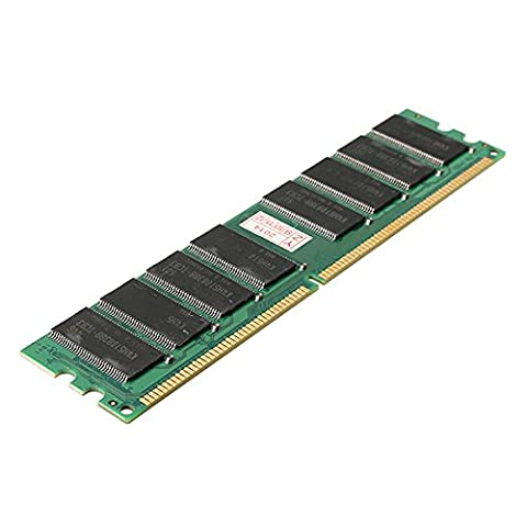 Tutoy 1GB DDR 400 PC3200 Non-ECC Low Density Desktop DIMM RAM 184 pins