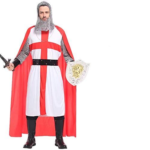 Ritter Kostüm-Set für Herren - perfekt für Fasching, Karneval & Halloween - Einheitsgröße 160-180cm ()