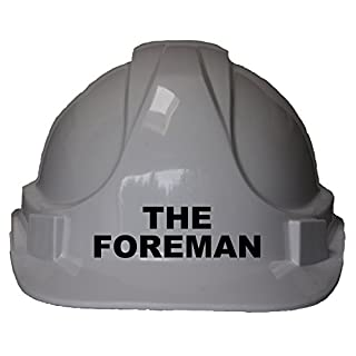 The Foreman Children, Kids Genuine Hard Hat Safety Helmet With Chin Strap One Size Adjustable Suitable for 2-12 Years White Complies With EN397 Safety Standard by Acce Products